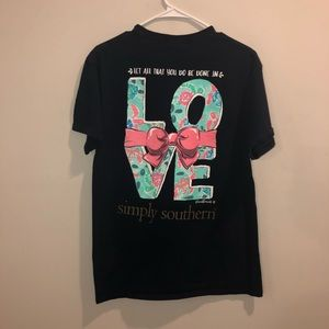 Simply Southern do all in love Tee sorority blue